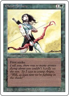 (3ED-RG)Elvish Archers/エルフの射手