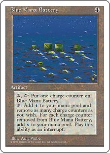 (4ED-RA)Blue Mana Battery/青の魔力貯蔵器