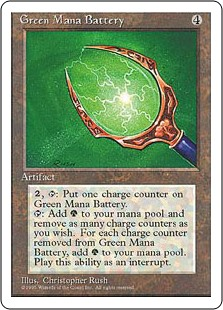 (4ED-RA)Green Mana Battery/緑の魔力貯蔵器