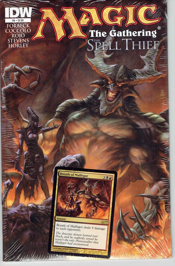 IDW Magic The Gathering Comic Book The Spell Thief Issue #4 Regular cover