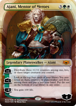 (MED-MM)Ajani, Mentor of Heroes/英雄の導師、アジャニ