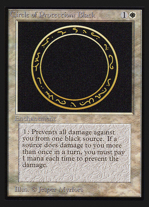 (CEI-CW)Circle of Protection: Black/黒の防御円