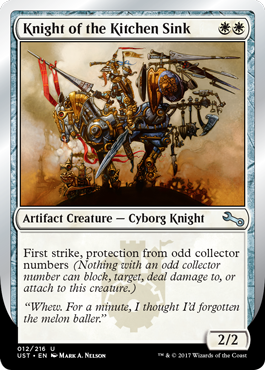 (UST-UW)Knight of the Kitchen Sink (D)