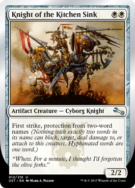 (UST-UW)Knight of the Kitchen Sink (E)