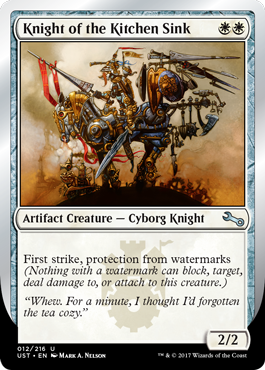 (UST-UW)Knight of the Kitchen Sink (F)