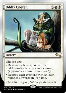 (UST-RW)Oddly Uneven
